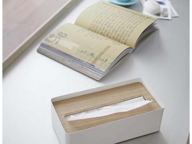 Yamazaki  Boite à Kleenex 'Rin' (naturel/blanc)