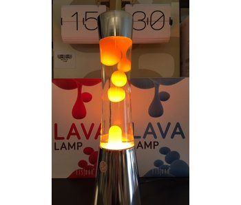 Lampe à Lave (chromé/orange)