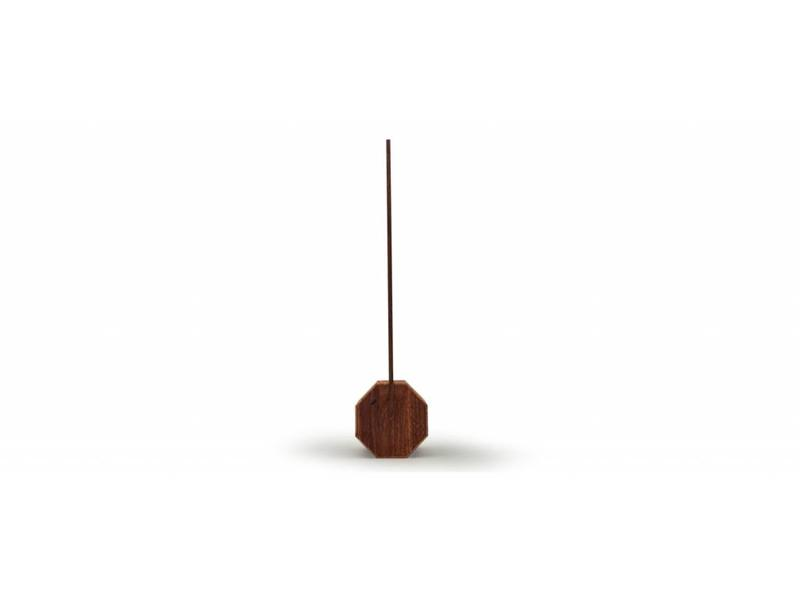 Gingko Bureaulamp 'Octagon One' (walnut)