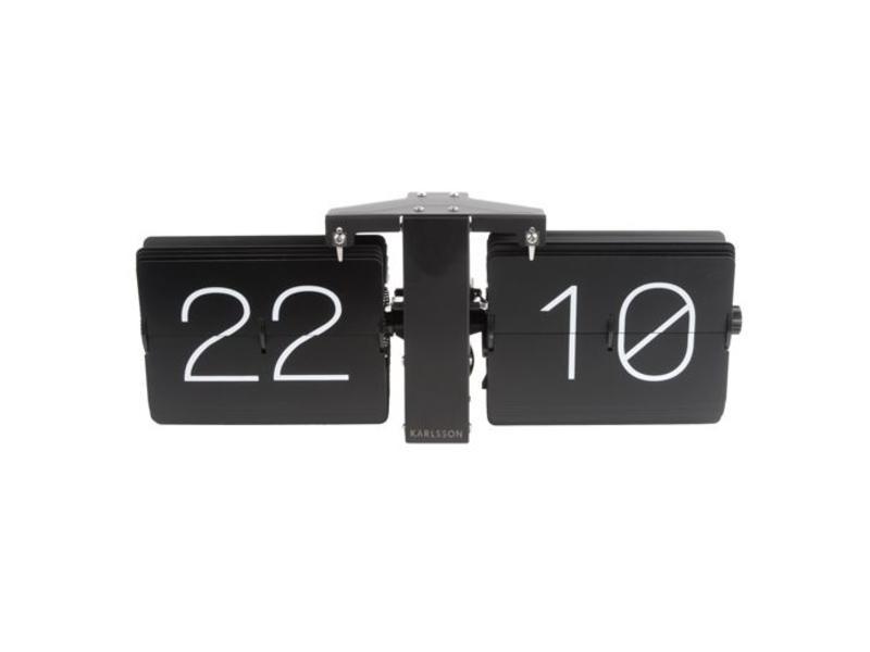 Karlsson Flip Clock 'No Case' (black/matt black)
