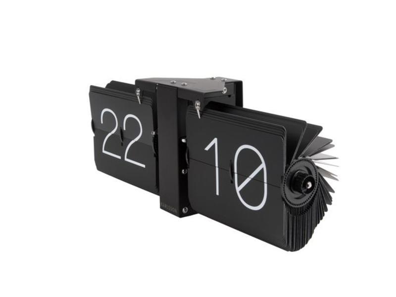 Karlsson Flip Klok : Wandklok design karlsson flip clock no case zwart mat zwart