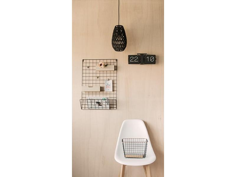 Karlsson Flip Clock 'No Case' (noir/noir mat)