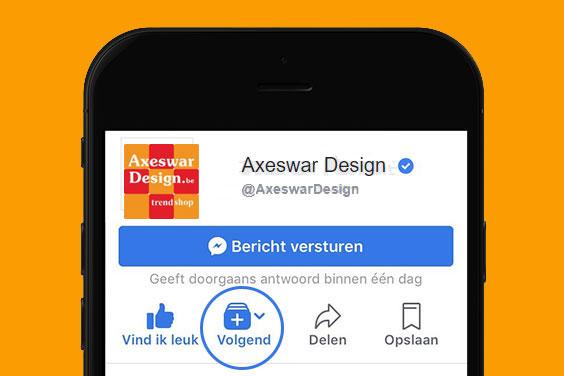 Axeswar Design blijven zien op Facebook