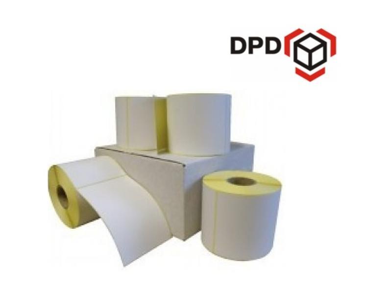 12 rollen DPD verzendetiket 102x150 mm. Kern 25 mm. 300/rol