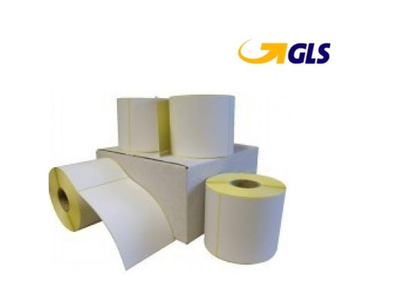 12 rollen GLS verzendetiket 102x150 mm. Kern 25 mm. 300/rol