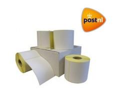 12 rollen PostNL verzendetiket 102x150 mm. Kern 25 mm. 300/rol