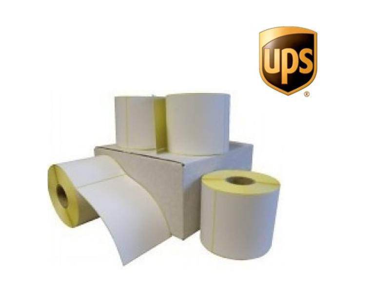 12 rollen UPS verzendetiket 102x150 mm. Kern 25 mm. 300/rol