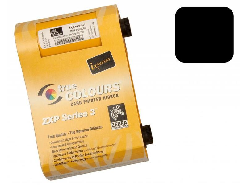 Zebra True Colours 800033-801 Ribbon Cartridge - zwart