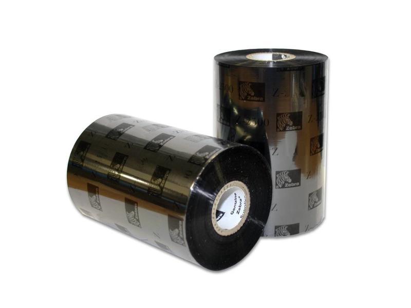 12 stuks Zebra 2300 wax ribbon - 156mmx450m - 02300BK15645