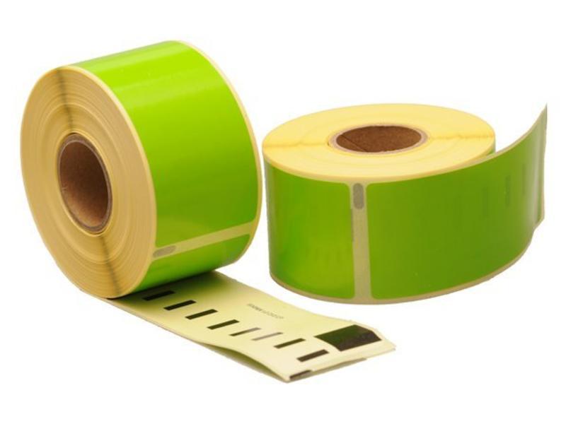 99012 - Dymo 36 x 89 mm - Groene labels 260/rol - 24 rollen per doos