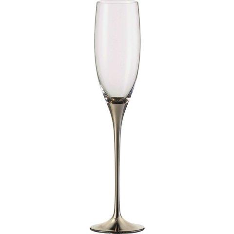 Sektgläser Champagner Exklusiv platin - 2 Stück im Geschenkkarton