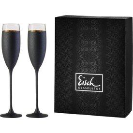 EISCH  Sektgläser/Champagnerglas Exklusiv gold/schwarz - 2 Stück im Geschenkk.