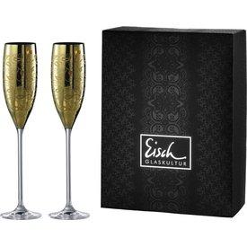 EISCH  Sektgläser/Champagnerglas Exklusiv gold - 2 Stück im Geschenkk.