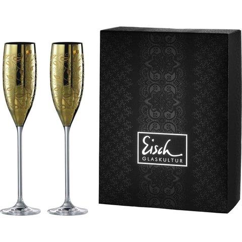 Sektgläser/Champagnerglas Exklusiv gold - 2 Stück im Geschenkk.