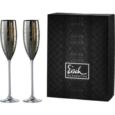 Sektgläser/Champagnerglas Exklusiv platin - 2 Stück im Geschenkk. von Eisch