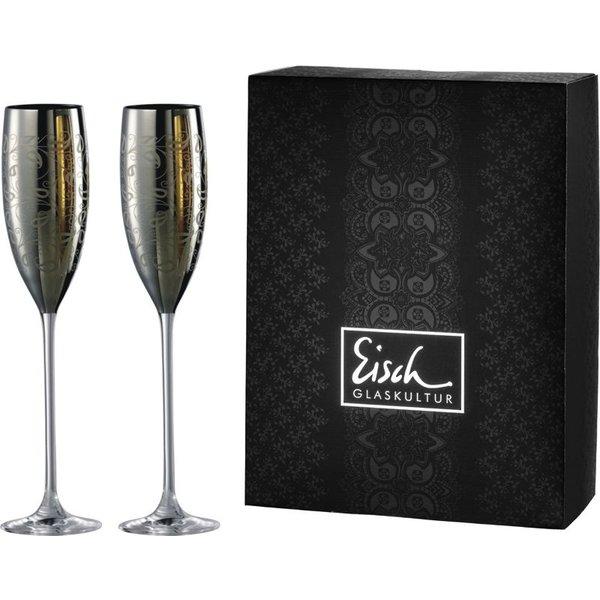 EISCH  Sektgläser/Champagnerglas Exklusiv platin - 2 Stück im Geschenkk.
