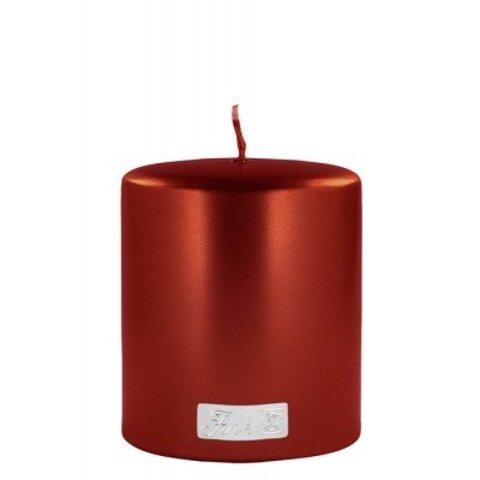 Exklusive Kerze, metallic rot von Fink-Living