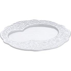 ALESSI ALLESI Frühstück-Teller aus weissem 4er Set mit Reliefdekor