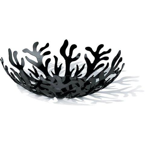 ALESSI Mediterraneo Obstschale aus Edelstahl, epoxidharzlackiert, schwarz.