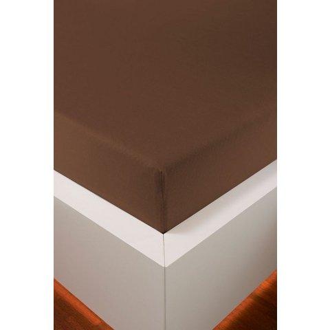 bellana® de Luxe Spannbetttuch/Fixleintuch Jersey mit Elastan, samtweich marone