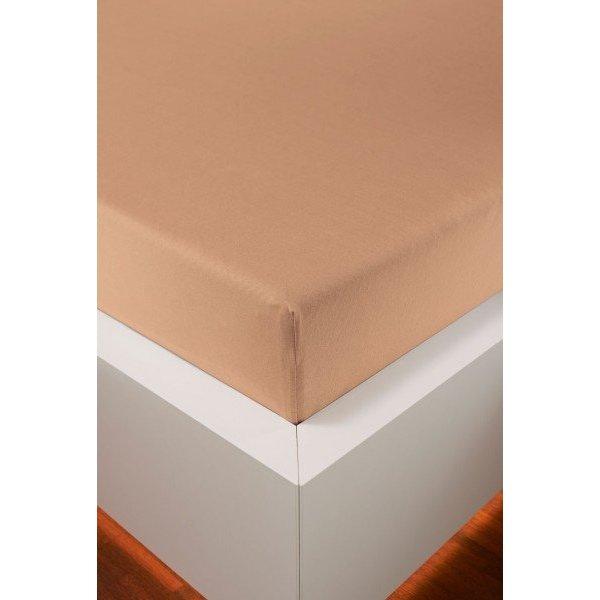 Bellana bellana® de Luxe Spannbetttuch/Fixleintuch Jersey mit Elastan, samtweich apricot
