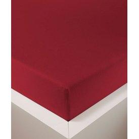 Bellana bellana® de Luxe Spannbetttuch/Fixleintuch Jersey mit Elastan, samtweich rubin