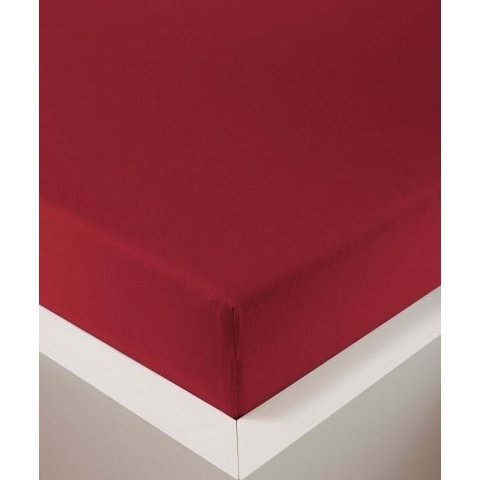 bellana® de Luxe Spannbetttuch/Fixleintuch Jersey mit Elastan, samtweich rubin