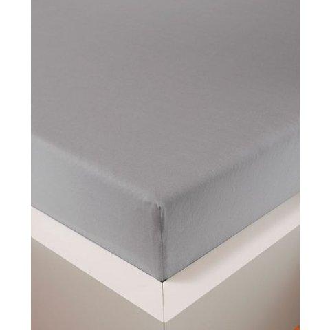 bellana® de Luxe Spannbetttuch/Fixleintuch Jersey mit Elastan, samtweich silber