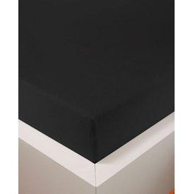 Bellana bellana® de Luxe Spannbetttuch/Fixleintuch Jersey mit Elastan, samtweich schwarz