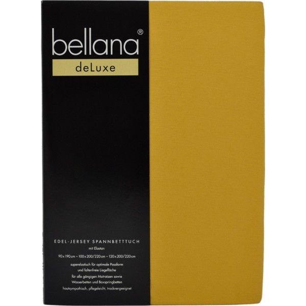 Bellana bellana® de Luxe Spannbetttuch/Fixleintuch Jersey mit Elastan, samtweich pflaume