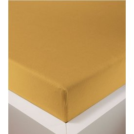 Bellana bellana® de Luxe Spannbetttuch/Fixleintuch Jersey mit Elastan, samtweich gold