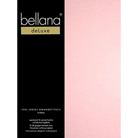 bellana® de Luxe Spannbetttuch/Fixleintuch Jersey mit Elastan, samtweich rosé