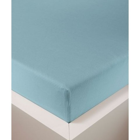 bellana® de Luxe Spannbetttuch/Fixleintuch Jersey mit Elastan, samtweich azur
