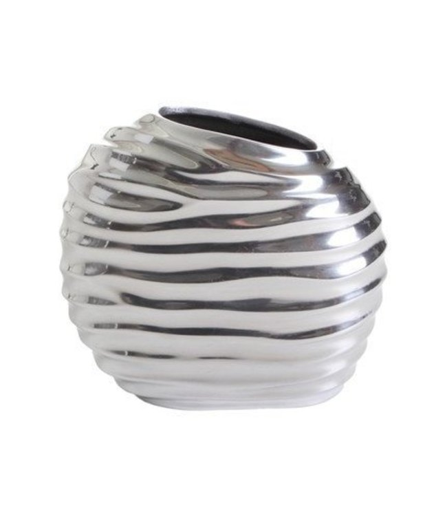 Matal round vase