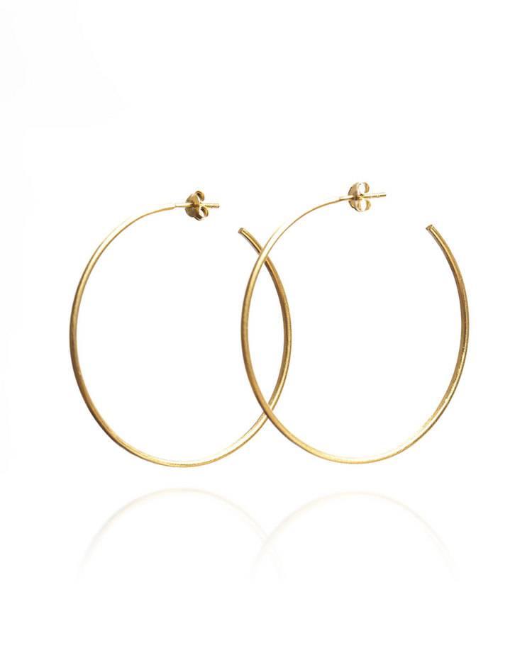 Large Gold Vermeil Hoop Earrings