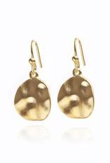Gold Vermeil Cornflake Earrings