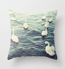 Claddagh Swans Cushion Cover