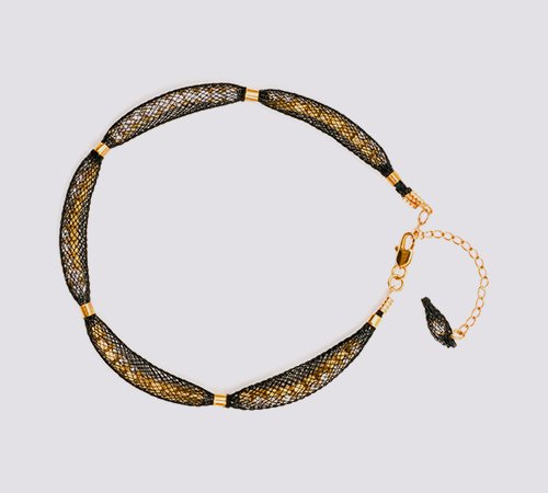 Topaz Gold Black Bracelet