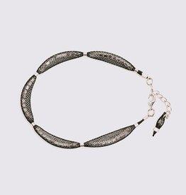 Topaz Silver Black Bracelet