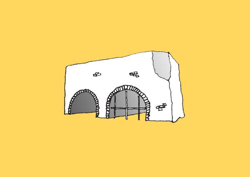 Spanish Arch Print A3 unframed