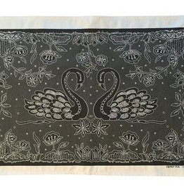 Swans Irish Lace Printed Tea Towel