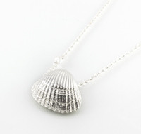 Cockle Shell Silver Necklace