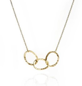 Gold vermeil three oval link necklace