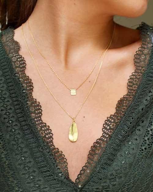 Gold Vermeil Leaf Necklace