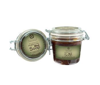 Alassala Schwarze Eucalyptus-Seife aus Marokko - 200 ml