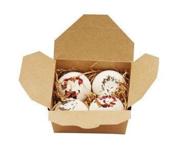 Alassala Natuurlijke Lavendel & Roos Bad truffels cadeau set- 4 x 45 gram