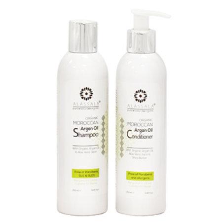Alassala Shampoo mit marokkanischem Bio-Arganöl & Aloe Vera - 250ml