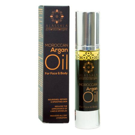 Alassala Marokkaanse argan olie bio gezicht en lichaam 50ml