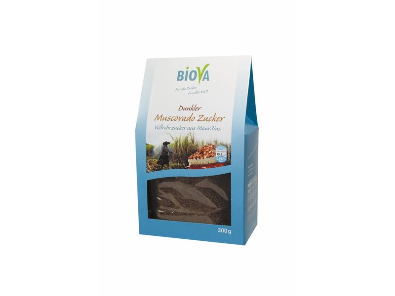 Biova muscovado rørsukker - 300g