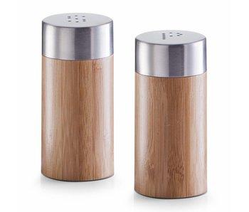 Zeller peper- en zoutstel van bamboe - tweedelig